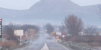 Carretera a Torroella de Montgrí tallada pel temporal Gloria | Imatge de Dani Cortés