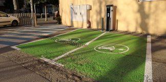 Places de vehicles elèctrics a Palamós | Imatge de l'Ajuntament de Palamós