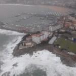 Port de Palamós durant el temporal Glòria | Imatge dels Mossos d'Esquadra