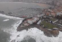Port de Palamós durant el temporal Glòria   Imatge dels Mossos d'Esquadra