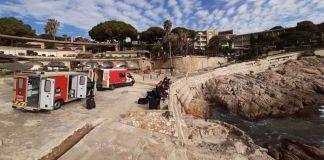 Dispositiu dels Bombers de Barcelona a Sant Feliu de Guíxols | Imatge de Marc Coll