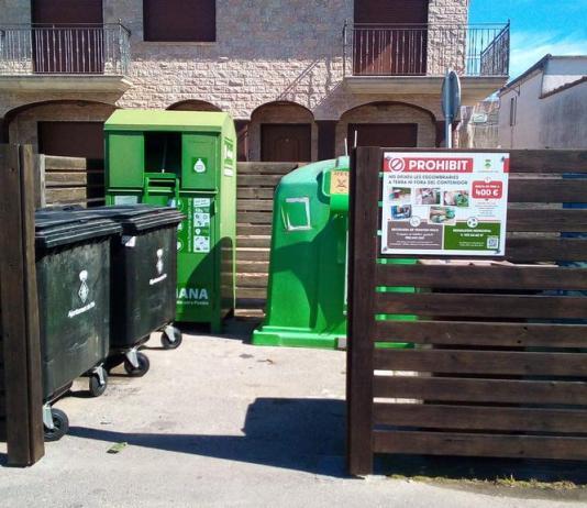 Illa de recollida de residus a Pals | Imatge de l'Ajuntament
