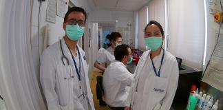 Infermers amb mascaretes als centres sanitaris del Baix Empordà durant la pandèmia del coronavirus | Imatge d'Àngels Larrabeti