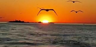 Sortida de sol des de les Illes Formigues el 21 de maig del 2020 | Imatge cedida a Ràdio Capital de l'Empordà