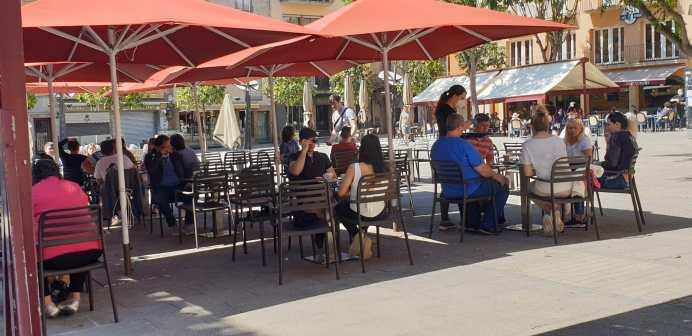 palafrugell terrasses plaça nova