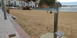 Dutxes a la platja de Tamariu | Imatge de l'Ajuntament de Palafrugell