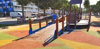 Parc infantil adaptat a la diversitat funcional | Imatge de l'Ajuntament de Palamós