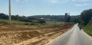 Carretera a Monells | Imatge de l'Ajuntament de Cruïlles