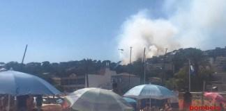 Incendi a Sant Feliu de Guíxols | Imatge dels Bombers