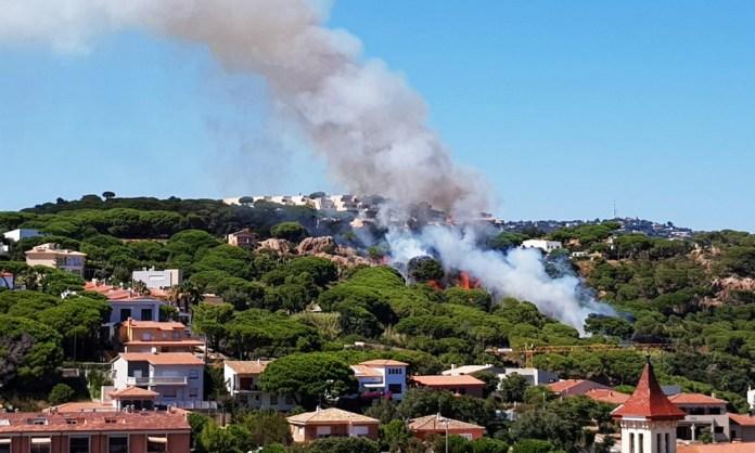 Incendi a Sant Feliu de Guíxols el 5 d'agost del 2020 | Imatge de l'Ajuntament