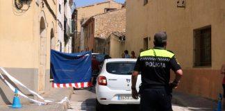 Pla mig del carrer on s'ha produït el crim aquest divendres 24 d'agost de 2018 a Palafrugell | Imatge de l'ACN - Gerard Vilà