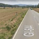 Quilòmetre 3 de la Carretera GI-644 entre Ullastret i Forallac | Imatge de Google Maps
