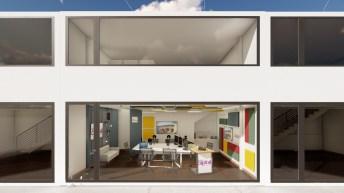 Imatge virtual del nou estudi de l'exterior del nou estudi de Ràdio Capital