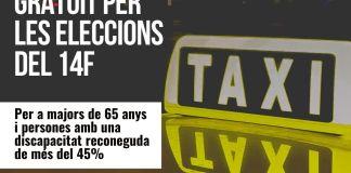 Cartell servei de taxi
