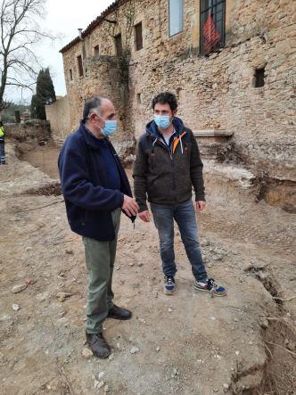 L'alcalde, Josep Sala, i el regidor de Patrimoni, Carles Frigola
