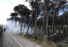 Incendi Castell Platja d'Aro