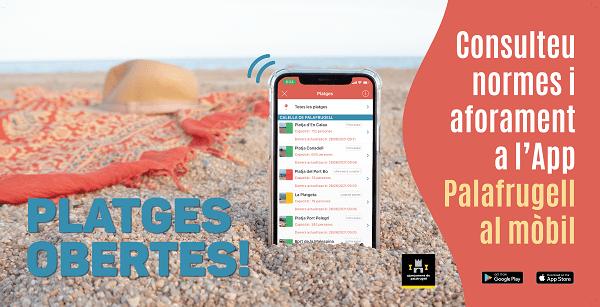 privat:-palafrugell-ofereix-als-usuaris-de-les-seves-platges-una-app-on-es-mostra-la-capacitat-i-l'espai-que-disposa-cada-platja