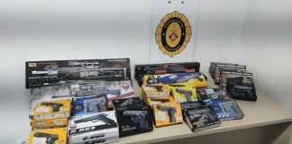 Pistoles de plàstic durant la Festa Major de Palafrugell | Imatge de la Policia Local