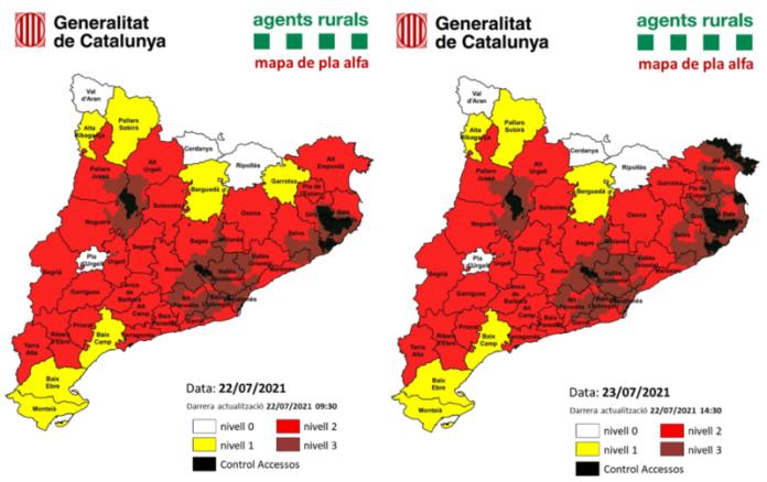 Mapa pla alfa Catalunya