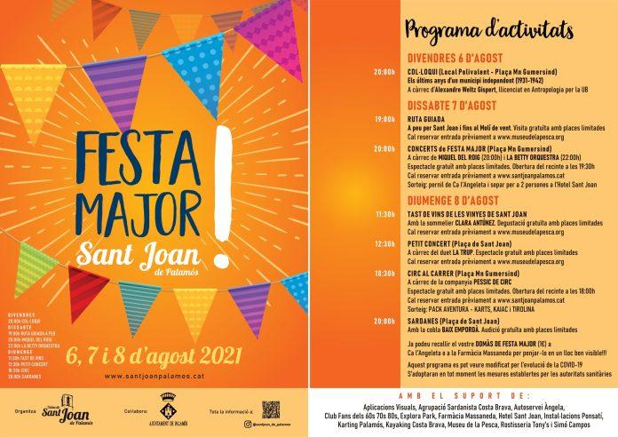 Festa Major Sant Joan Palamós programa