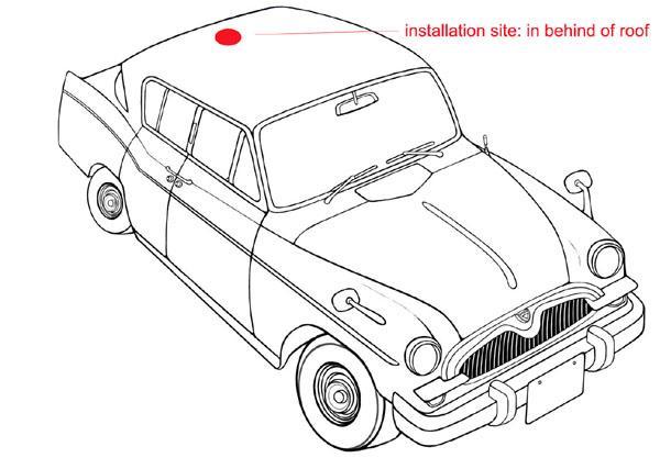 Black Am Fm Car Antenna , Car Radio Aerial Receive Signals