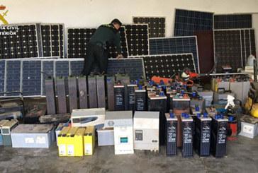 El Condado   La Guardia Civil detiene a dos personas por el robo de placas solares y otros efectos en la comarca
