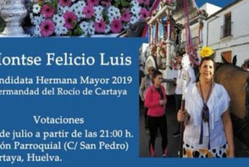 Montse Felicio, candidata a hermana mayor de la romería del Rocío 2019