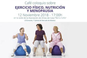 Café coloquio sobre ejercicio físico, nutrición y menopausia