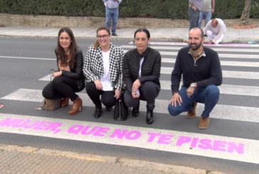 Cartaya Tv | Los pasos de peatones, herramienta contra la violencia de género en Cartaya