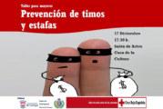 Cruz Roja organiza un taller para personas mayores de prevención de timos y estafas en Cartaya
