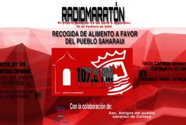 Maratón solidario a beneficio del pueblo Saharaui en radiotelevisión Cartaya
