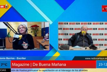 Radio Cartaya | Antonio Barrios presenta su libro en el Circulo e Juventud de Cartaya