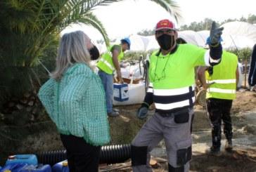 Avanzan las obras del nuevo tramo del carril multifuncional que conecta Cartaya y El Rompido