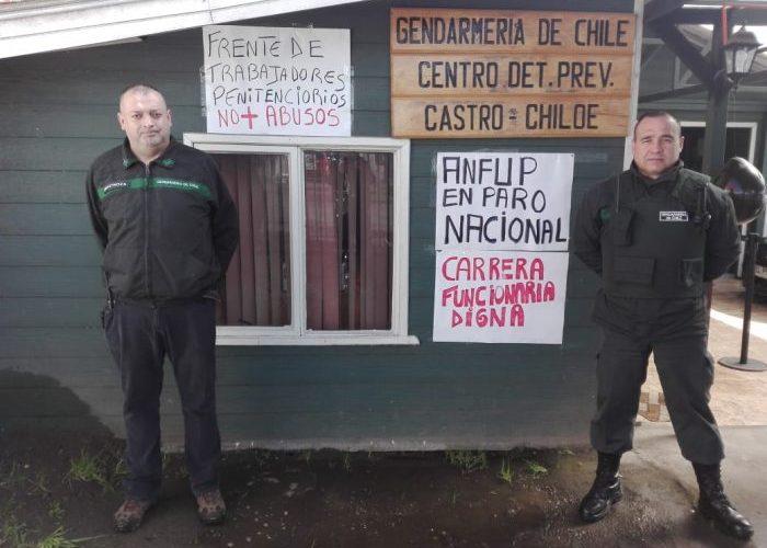 Chiloé: funcionarios de Gendarmería se adhieren a movilización nacional.
