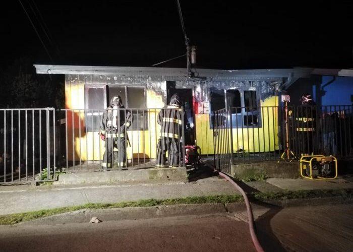 Castro: incendio destruyó una vivienda.