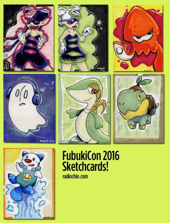 Fubukicon 2016 sketchcards