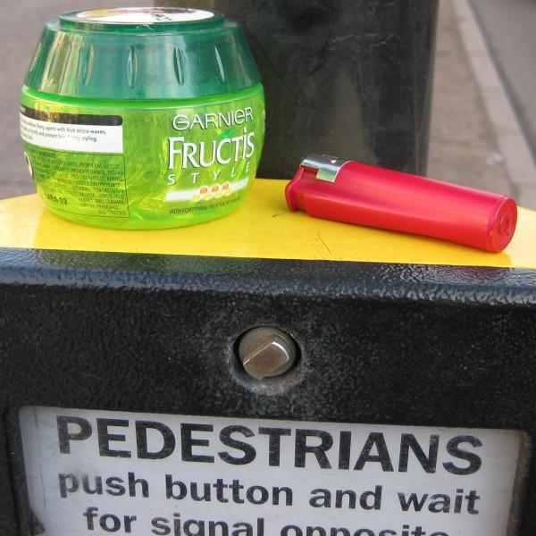 Push button for Traffic Island Hairdresser