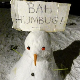 Bah Humbug Snowman by