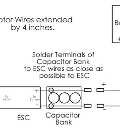 how to solder capacitor bank to extend esc wires [ 1525 x 842 Pixel ]
