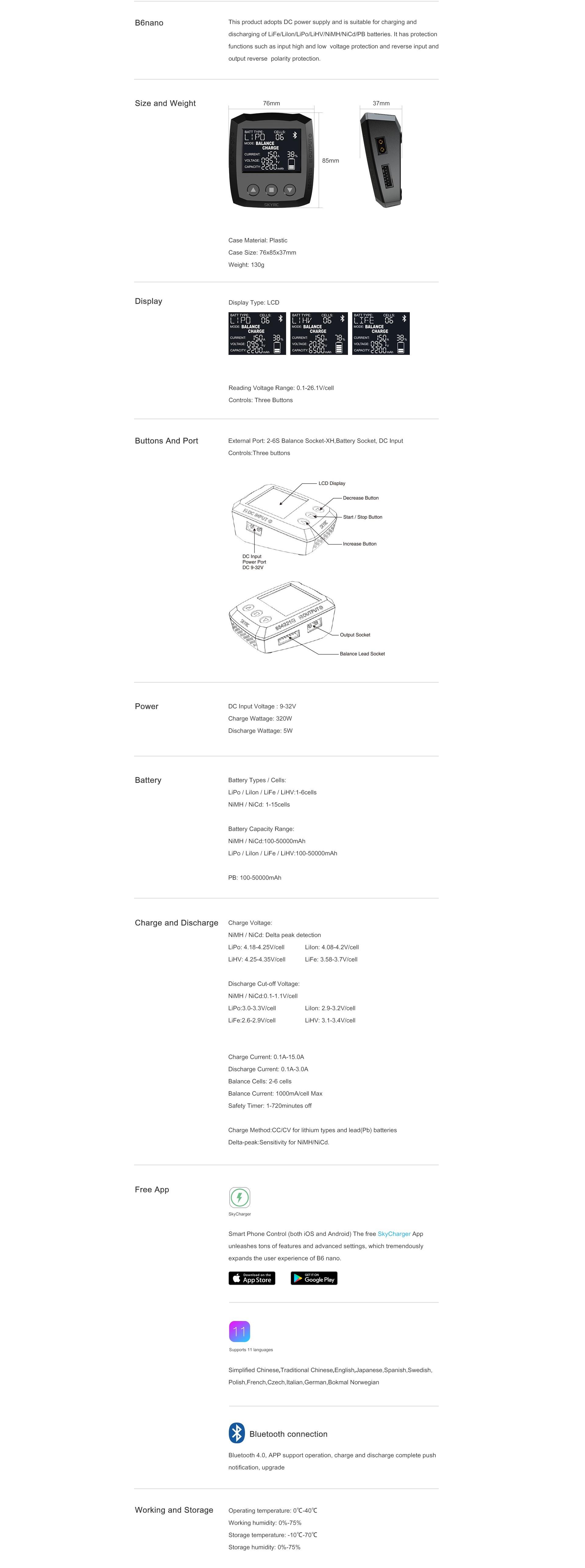Skyrc Nano Multi Balance Charger Sk