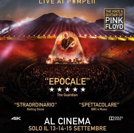 David GILMOUR live at Pompei: solo il 13-14-15 settembre al cinema