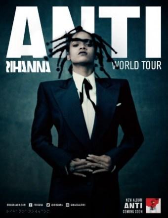 RIHANNA ANNOUNCES THE ANTI WORLD TOUR (PRNewsFoto/Live Nation Entertainment)