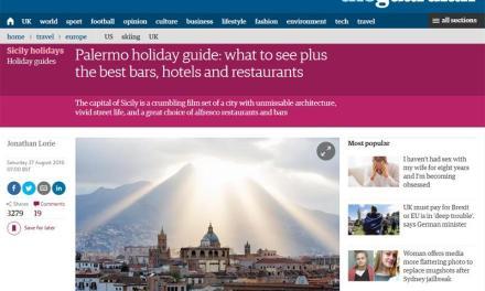 The Guardian incorona Palermo come città italiana da visitare nel 2018