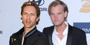 Avicii con Chris Martin dei Coldplay
