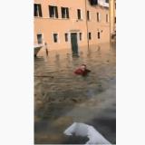 Venezia, acqua alta e il genio di turno (video Youtube)