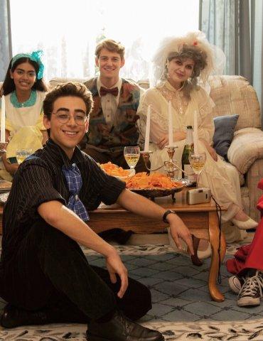 (left to right) The cast of Dramarama, Zak Henri (JD); Megan Suri (Claire); Nick Pugliese (Gene); Nico Greetham (Oscar); Anna Grace Barlow (Rose); Danielle Kay (Ally); photo courtesy the filmaker.