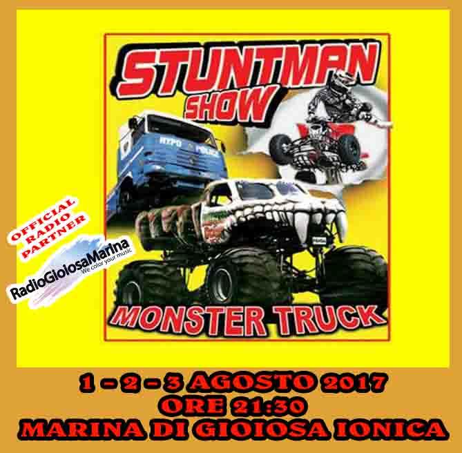 monster truck e stuntman show a marina di gioiosa ionica con radio gioiosa marina official radio partner