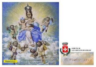 cartolina celebrativa Poste Italiane rende omaggio alla Madonna delle Grazie di San Giovanni di Gerace radio gioiosa marina rgm news
