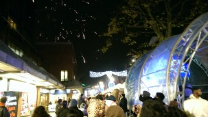 Harrow Town Centre Christmas Lights - Fireworks