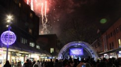 Harrow Town Centre Christmas Lights - Fireworks